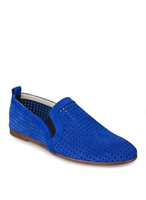 Matraş Hakiki Deri Casual Ayakkabı Mavi